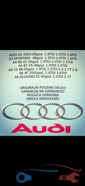 Polovni Delovi Za Audi A3 1.9 Tdi Arl Asz Ostala Oprema