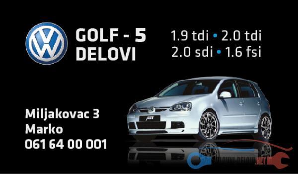 Polovni Delovi Za Volkswagen Golf 5 2.0TDI 1.9tdi 2.0sdi Kompletan Auto U Delovima