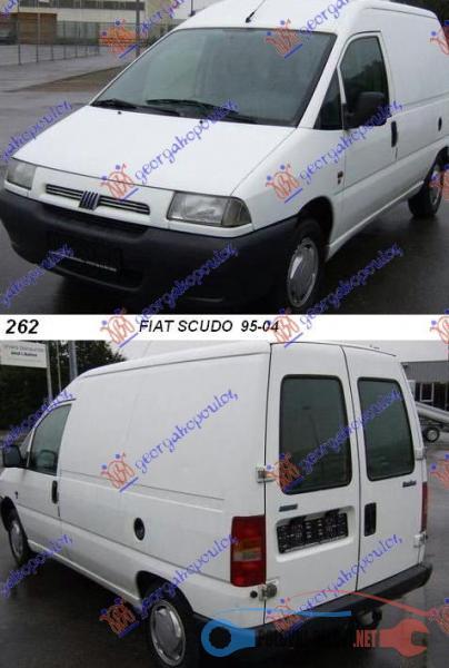 Polovni Delovi Za Fiat Scudo 1.9D, 1.9Td, 2.0 Hdi, 2.0 Kompletan Auto U Delovima