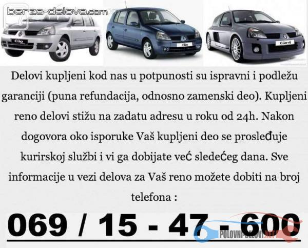 Polovni Delovi Za Renault Clio Dci Kompletan Auto U Delovima