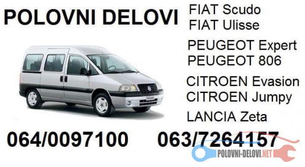Polovni Delovi Za Fiat Scudo Kompletan Auto U Delovima
